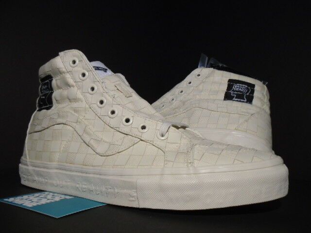 8f5dc3b40b7a29 VANS SK8-HI REISSUE REISSUE SK8-HI LX BRAIN DEAD STAMP OUT REALITY WHITE  CHECKER VN0A3A7KNJT 11 ...