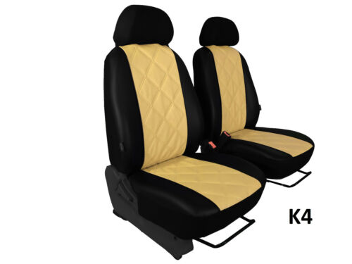 FIAT DUCATO VAN 2014 ONWARDS ECO LEATHER EMBOSSED TAILORED SEAT COVERS EMBOSSED