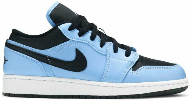 Nike Air Jordan 1 Low GS Shoes for Kids, Size 6 - Blue/Black/White ...
