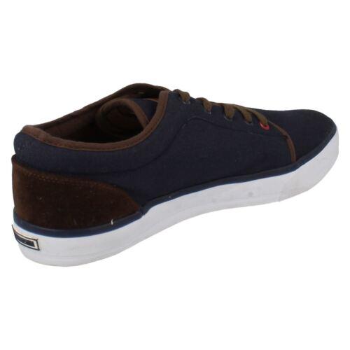 Hommes lambretta bleu marine toile lacets chaussures simba