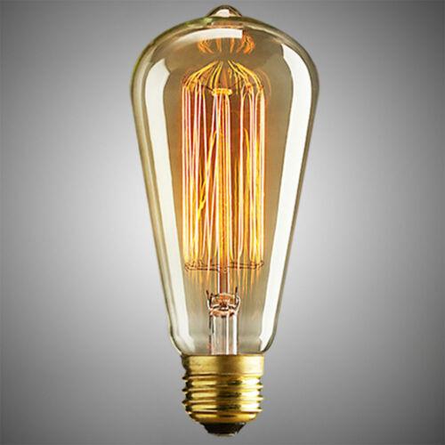 Bulb vintage Glass Retro Rustic Amber Filament Edison decorative E27 Screw ES UK