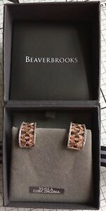 f8447a97a Image is loading Beaverbrooks-Sterling-Silver-Cut-Out-Flower-Huggie-Hoop-