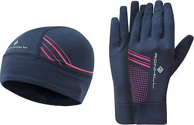 Einfach Ronhill Beanie And Glove Set - Navy Taille Und Sehnen StäRken