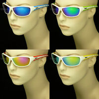 Sunglasses White Frame Mirror Sport Motorcycle Baseball Uv400 Men Women Mp82