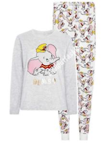 Disney Ladies Pyjama Set Licensed Pjs Long Dumbo