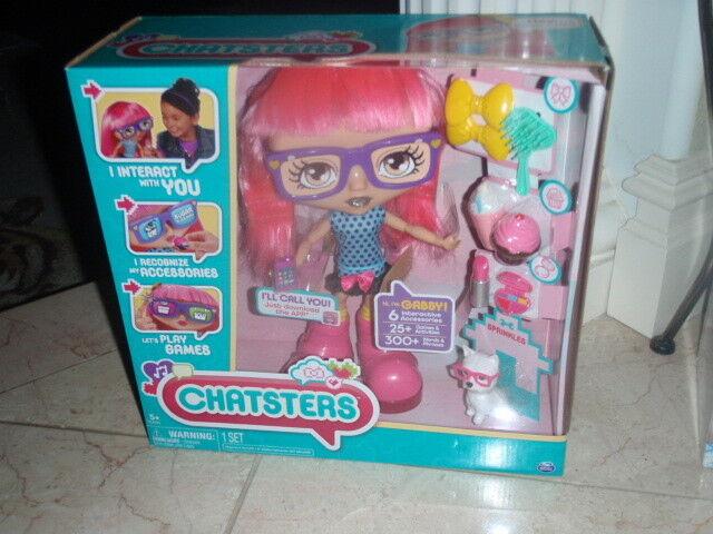 Chatsters-Gabby Muñeca Interactiva Cabello rosadodo Nuevo En Caja 300+ palabras o frases