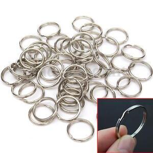 50Pcs-15-20mm-Split-Keyring-Key-Chain-Ring-Loop-Holder-Clasps-Keyfob-Connectors