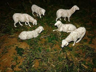 6  pecore x pastori 6 cm landi moranduzzo minuterie presepe miniature sheep crib