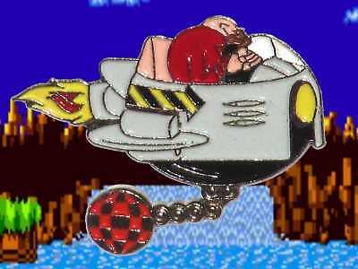 Sega Sonic Dr Robotnik Eggman Pin Badge Very Rare Variant 1991 First Game Boss Ebay