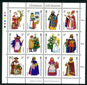 GUERNSEY-1985-CHRISTMAS-GIFTS-MINIATURE-SHEET-OF-ALL-12-COMMEMORATIVE-STAMPS-MNH