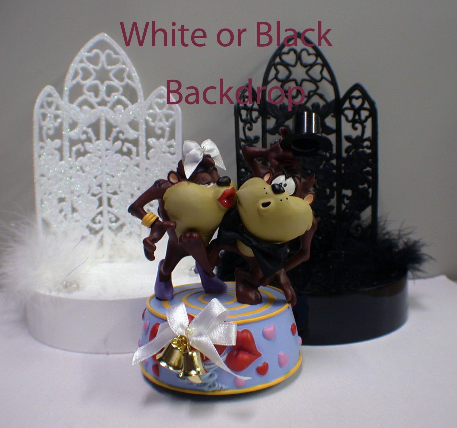 Diable de Tasmanie TAZ wedding cake topper GROOM TOP Noir Ou Blanc Toile de fond Looney