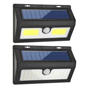 LED-Luz-Solar-Exterior-Lampara-de-Pared-Jardin-Proyectores-con-Sensor-Movimiento