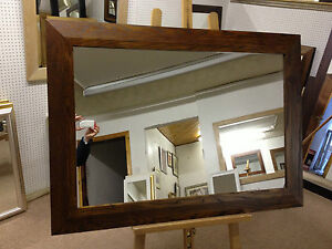 NEW-LARGE-4-SHAPED-WALNUT-STAINED-SOLID-OAK-FRAMED-OVERMANTLE-WALL-MIRRORS