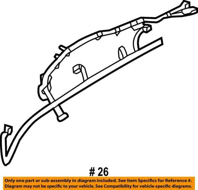 Lincoln Ford Oem 11 12 Mkx Rear Bumper Wire Harness Ba1z15k868b For