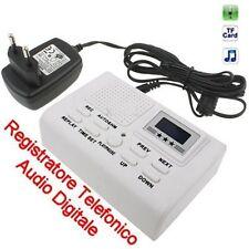 REGISTRATORE AUTOMATICO TELEFONICO BIANCO digitale su scheda SD (non inclusa)