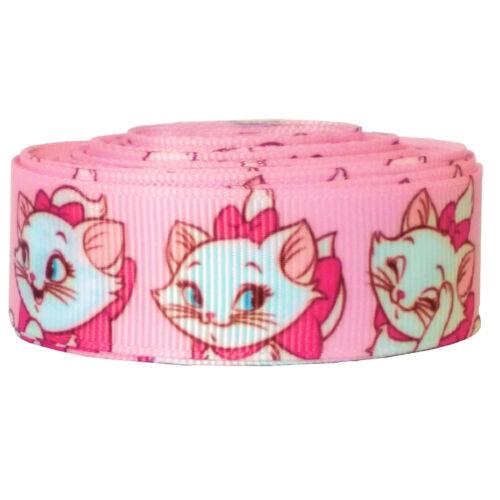 "Disney Marie Cat Cartoon Grosgrain Ribbon 7//8/"" 22mm x 1 Meter"