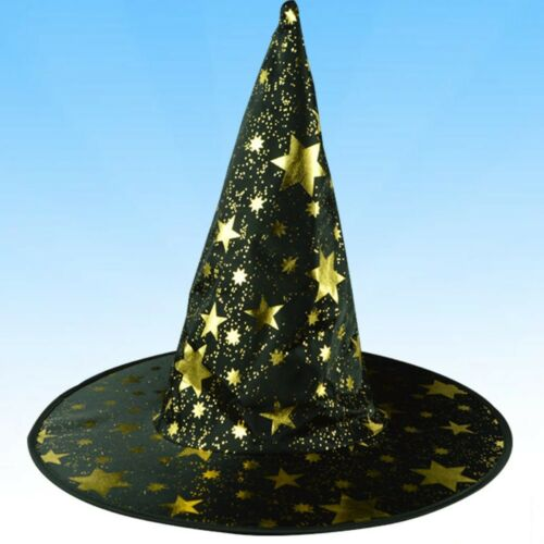 Adult Women Men Witch Hats For Halloween Costume Accessory Stars Printed Cap US