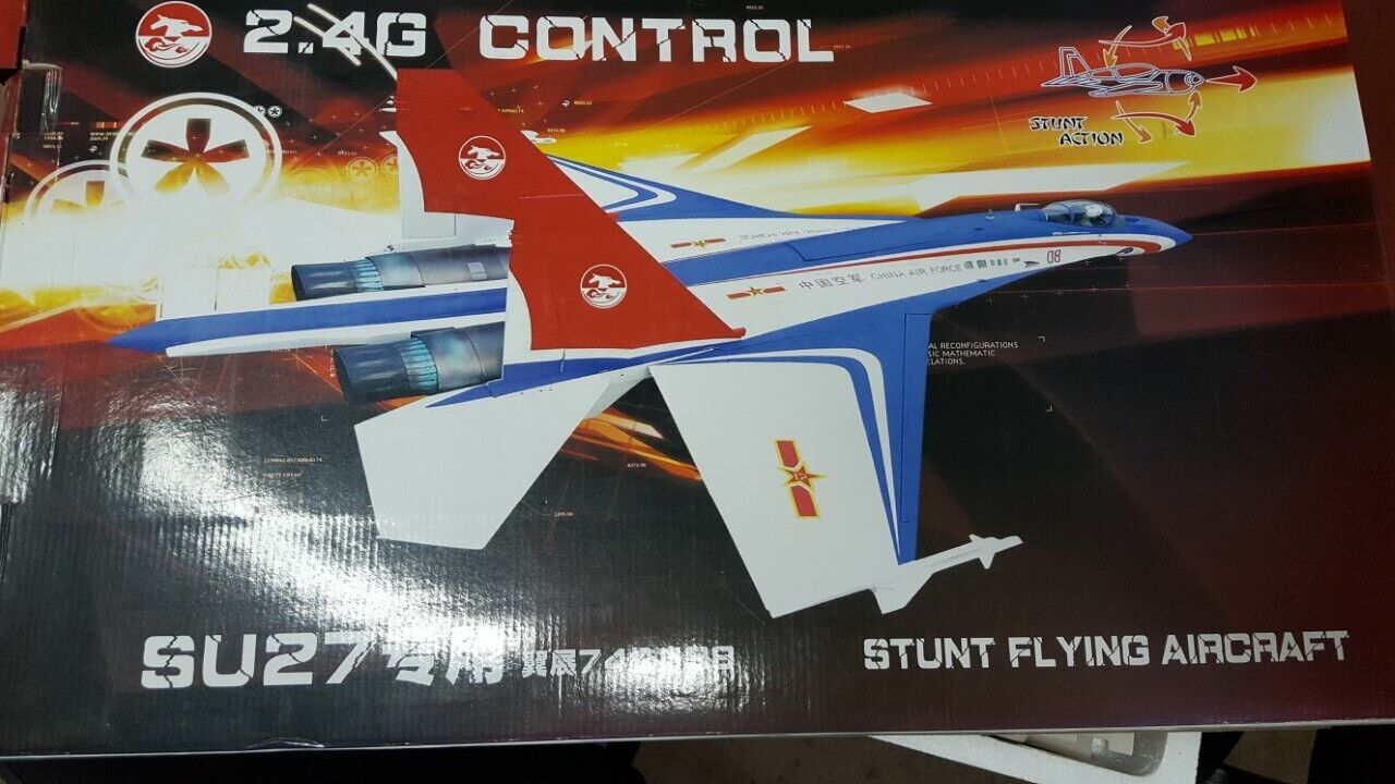 SU27 STUNT FLYING MODEL Radio Control Airplane COMPLETE KIT ALL INCLUSIVE