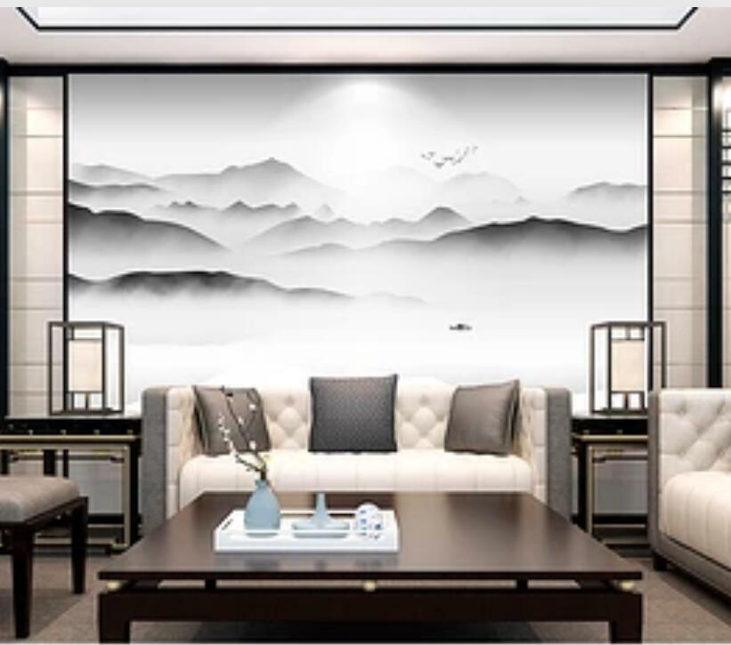 3D Tusch Malerei H1779 Tapete Wandbild Selbstklebend Abnehmbare Aufkleber Wend