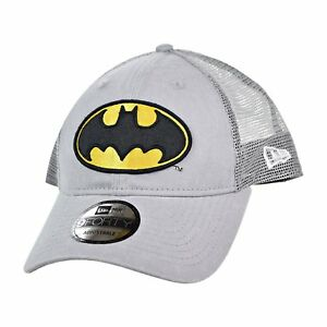 DC Comics Batman Symbol Washed Trucker Snapback Baseball Cap