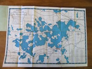 Details about VINTAGE Indexed Map Lake Minnetonka Vicinity Minnesota on