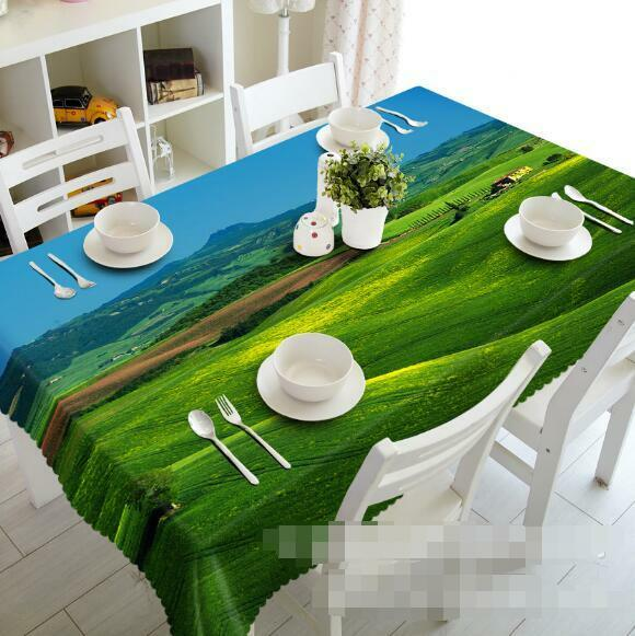 3D Grassland 05 Tablecloth Table Cover Cloth Birthday Party Event AJ WALLPAPER