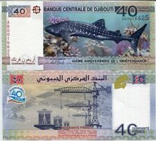 DJIBOUTI 40 FRANCS 2017 P 46 SHARK 40th ANNIV. INDEPENDENCE COMM. UNC