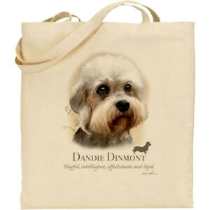 07bcfb36571 Image is loading Dandie-Dinmont-Dog-Breed-Howard-Robinson-reusable-cotton-