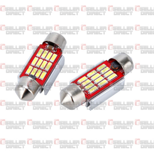 2x NUMBER PLATE BULBS LIGHTS LED BRIGHT WHITE XENON SEAT LEON CANBUS ERROR FREE