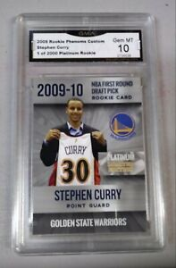 2009-10-PLATINUM-LIMITED-ED-WARRIORS-STEPHEN-CURRY-RC-GRADED-GMA-10-GEM-MINT
