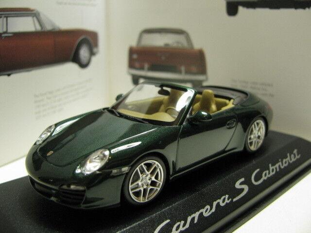 1 43 MINICHAMPS PORSCHE 911 CARRERA S CABRIOLET DIECAST concessionnaire version