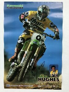 Vintage-Motocross-Ryan-Hughes-Autographed-Poster-Rare
