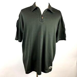 Billabong-Mens-XL-Short-Sleeve-Heavy-Polo-Shirt-1-2-Zip-Olive