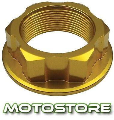 GOLD ALLOY CNC STEERING STEM YOKE NUT FITS YAMAHA YZF1000R THUNDERACE 1996-2003