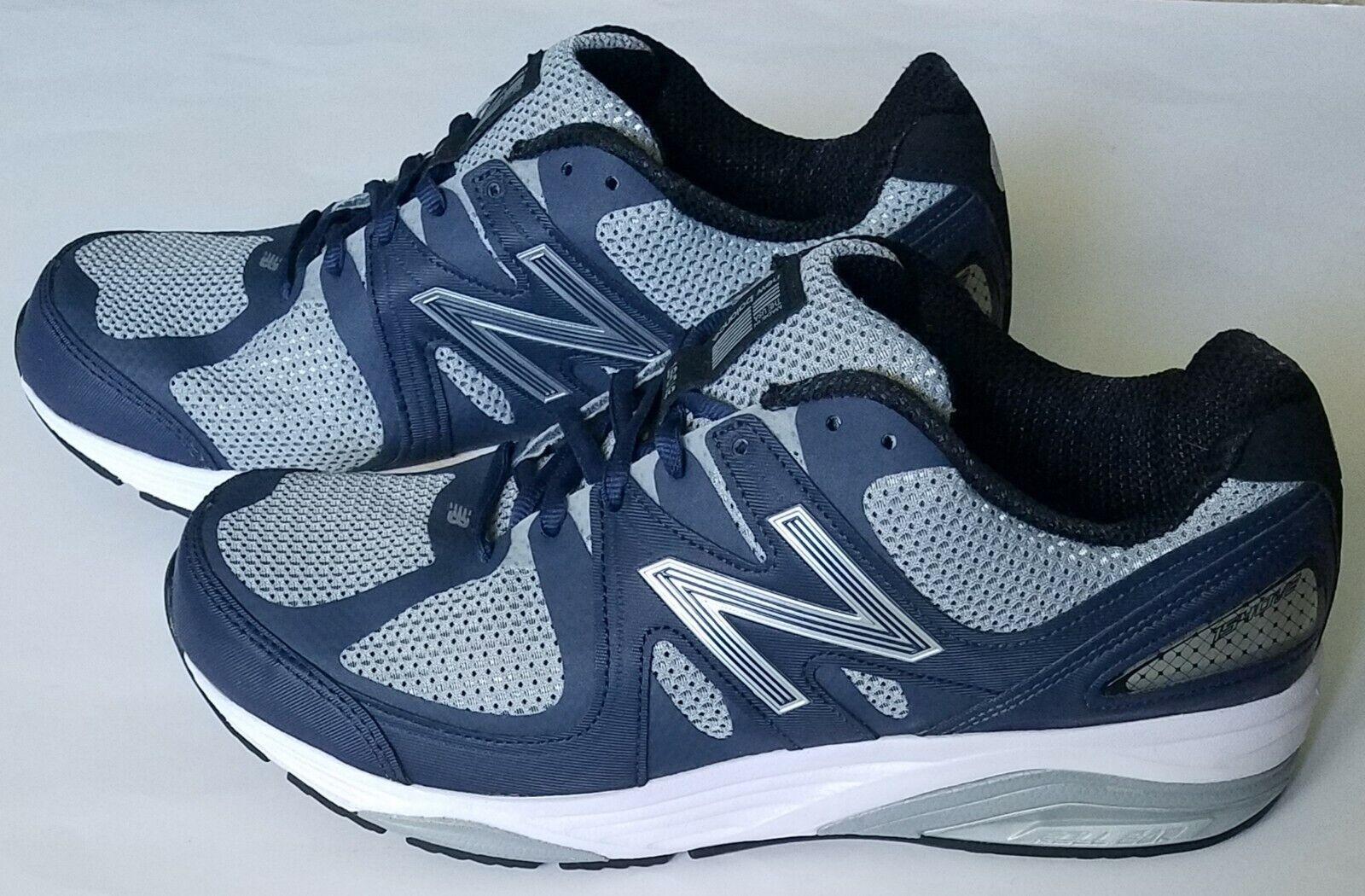 Nuevo balance masculino m1540nv2 gris   azul marino zapatos de correr, talla 9.5 (4E)