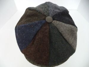 292e30e1 Hanna Hat Irish patch work tweed 8 piece newsboy cap Donegal Ireland ...