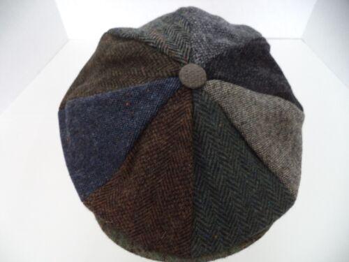 Hanna Hat Irish patch work tweed 8 piece newsboy cap Donegal Ireland wool