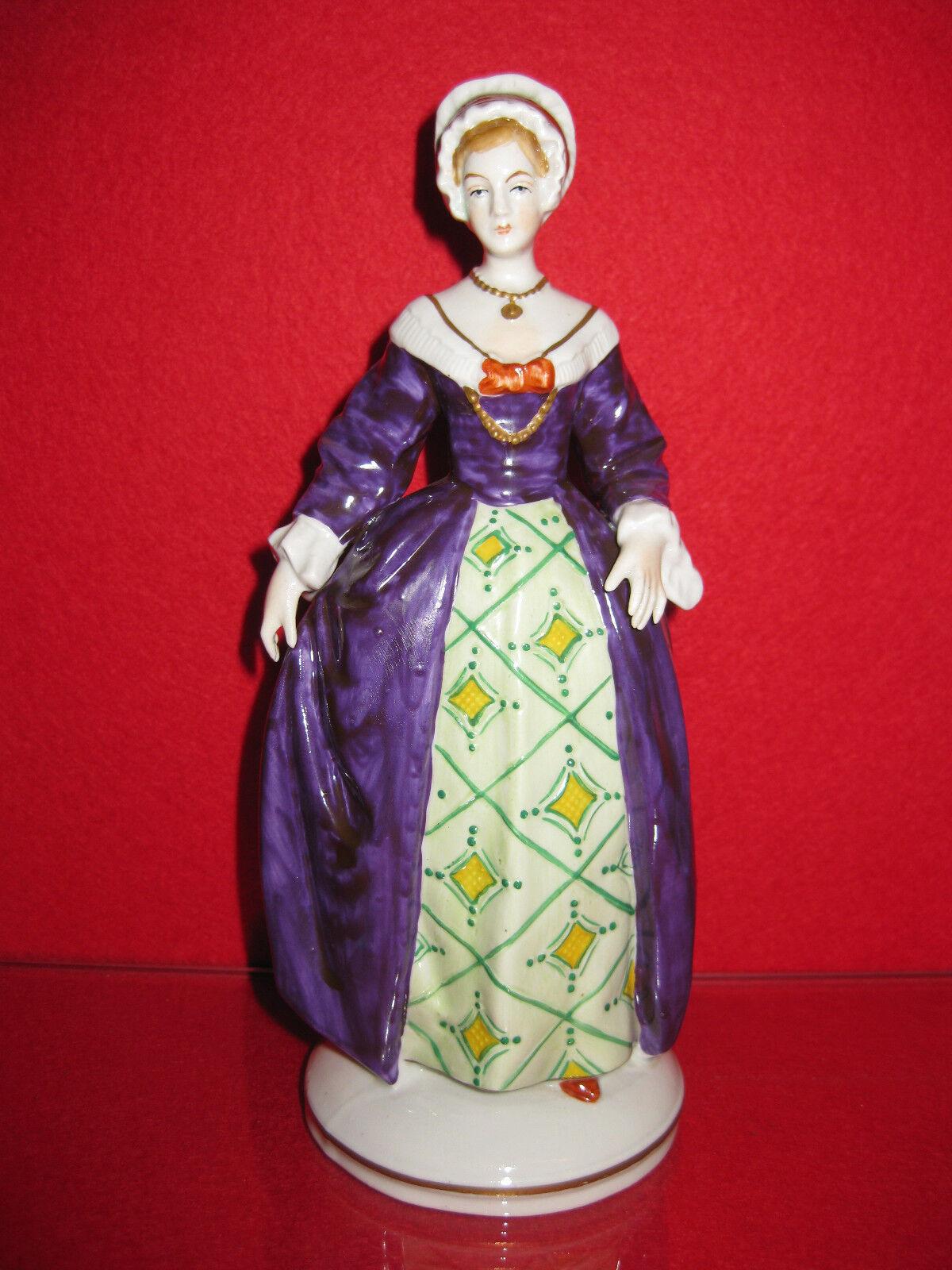 Catherine Howard Sitzendorf Porzellan Figur Queen Heinrich VIII Kirche England