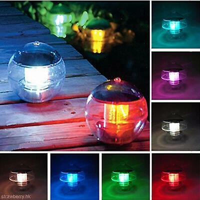 Solar Powered Waterproof LED Lamp Garden Yard Lawn Pool Light Outdoor Decor Lamp