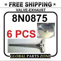 Set Of 6 Valve-exhaust For Caterpillar Sr4 3304 3306 8n0875 8n-0875 Ships Free
