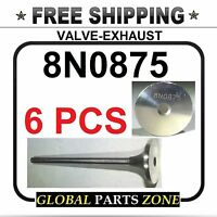Set Of 6 Valve-exhaust For Caterpillar Sr4 3304 3306 8n0875 8n-0875 Ships Free