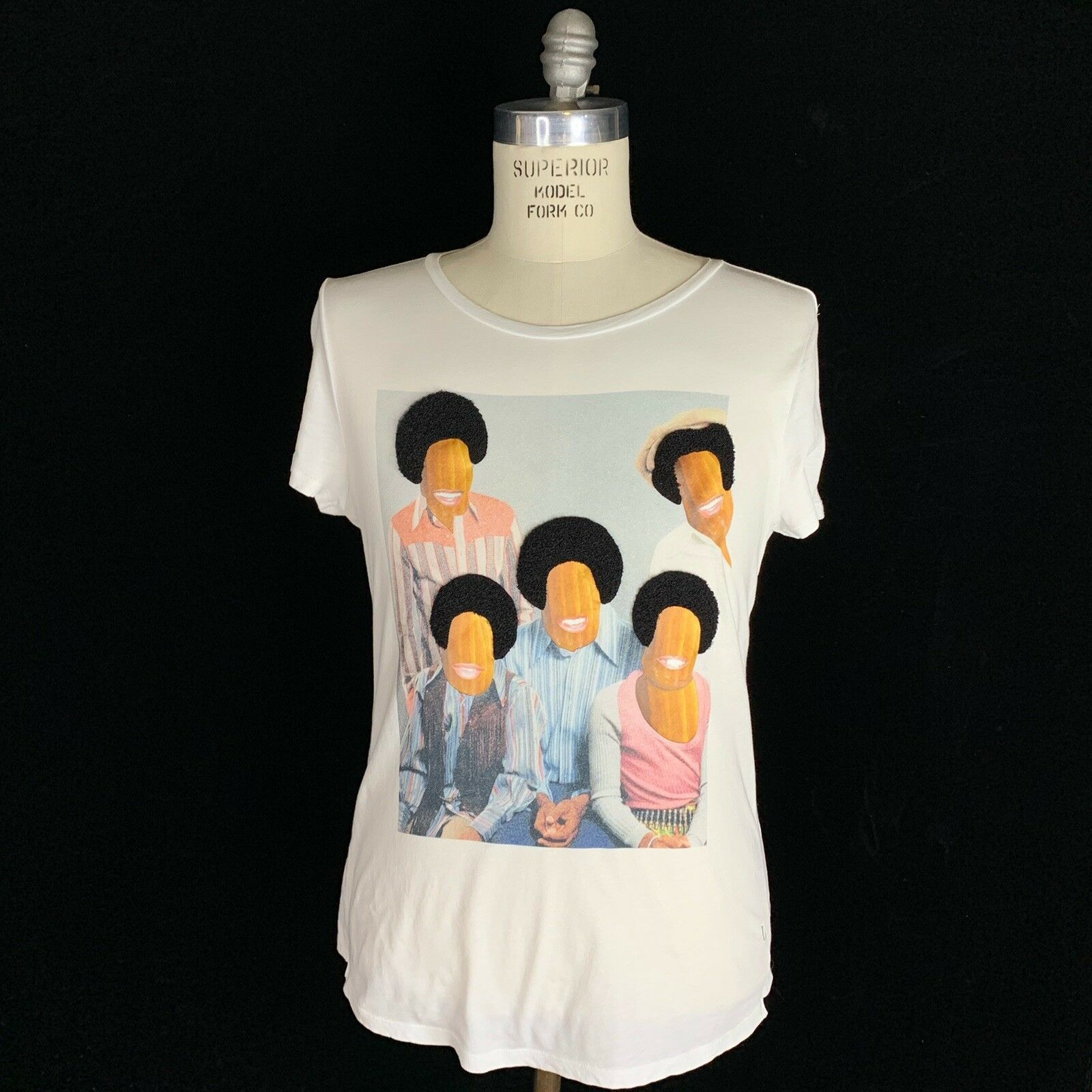 Les Benjamins Afro Family Portrait Short Sleeve T Shirt Mens Size Large Textured
