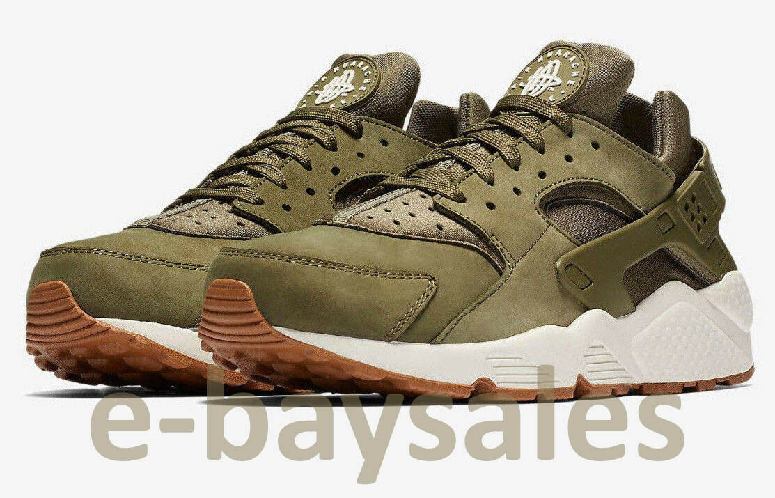 NIKE AIR HUARACHE MEN'S TRAINERS SNEAKERS SHOES OLIVE GREEN US 12