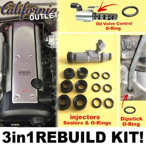 Details about REBUILD KIT 1JZ VVTi Injector Seal Insulator + VVTi Valve &  Oil Dipstick O-Rings
