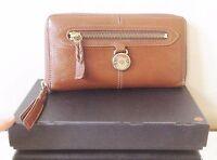 Mulberry Tan Brown Leather Full Size Somerset 3/4 Zip-Around Wallet/Purse MEGA!!