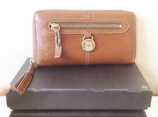 Mulberry Tan Brown Leather Full Size Somerset 3/4 Zip-Around Wallet/Purse MEGA!!