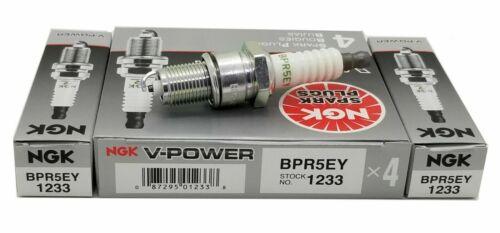 6 Plugs NGK BPR5EY//1233 V-POWER PREMIUM SPARK PLUGS
