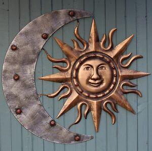 Aztec Sun Amp Moon Garden Wall Art Ebay