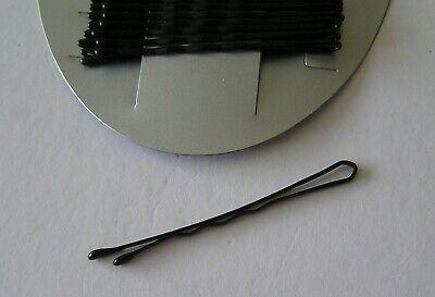 1 Scheda Nuova Del 36 Jet Black Per Capelli Grip Diapositive Molletta Hairgrips 44mm Lunga Donna-mostra Il Titolo Originale