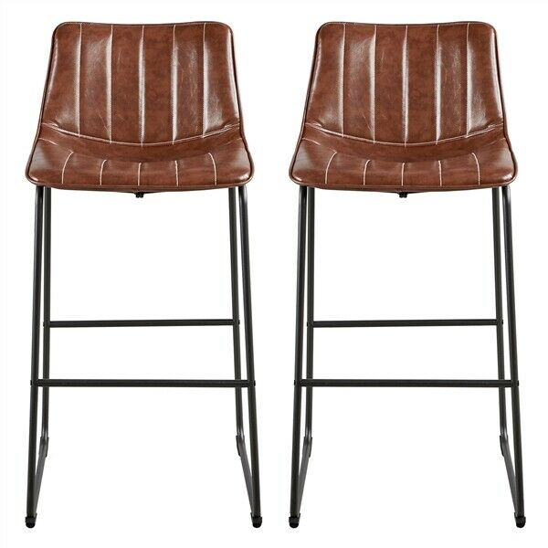 Furniture Of America Cherry Brown Finish Dining Chairs Set Of 2 For Sale Online Ebay